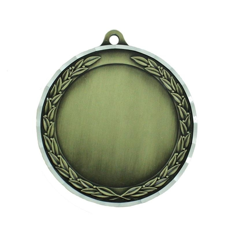 2-3/4 Inch Die Cast Antique Brass Medal Holds 2 Insert - M182g - Award Medals Frame Takes Inserts M182G