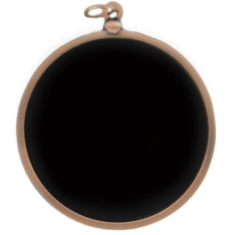 2-3/4 Inch Die Cast Two Sided Bronze Medal With 2 Recessed Black Discs Both Sides - M97bb - Trophies And Awards Blank Medals For Engraving And Imprinting M97BB