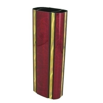 2-3/4 Inch Oval Plastic Moonbeam Series Trophy Column; Maroon - X9513ma - Trophies And Awards Component Parts X9513MA