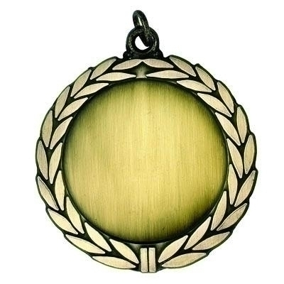 2-3/4 Inch Wreath Medal Frame Holds 2 Insert; Multiple Colors - M138 - Trophies And Awards Academic Award Medals M138
