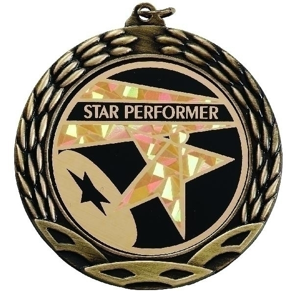 2-3/4 Inch Wreath Medal Frame Holds 2 Insert; Multiple Colors - M178g - Trophies And Awards M-series; 1-1/2; 1-1/4; 1-1/8; 2-1/2; 2-1/4 And Academic Medals M178G