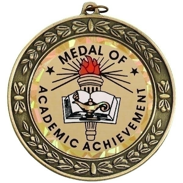 2-3/4 Inch Wreath Medal Frame Holds 2 Insert; Multiple Colors - M181g - Trophies And Awards M-series; 1-1/2; 1-1/4; 1-1/8; 2-1/2; 2-1/4 And Academic Medals M181G