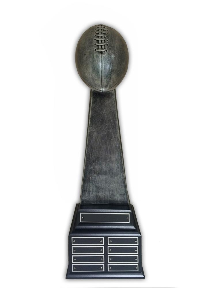 25-1/2 Inch Antique Silver Large Fantasy Football Trophy - Tr7483 - Sports Awards Trophies TR7483