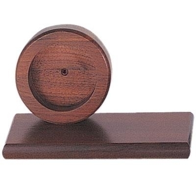 3-1/2 X 8 Walnut Desk Base - Xg931 - Awards Trophy Eagles Without Plates XG931