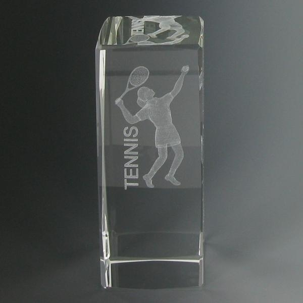 Tennis Trophies & Awards Trophies - Cr279 - 4-5/8 X 1-7/8 Optical Crystal Female Tennis Trophy CR279