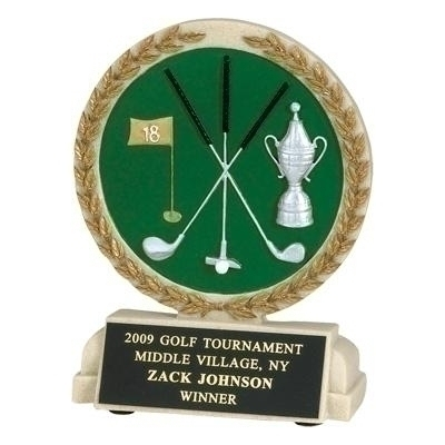 Tennis Trophies & Awards Trophies - Tr9925bk - 5-1/2 Inch Golf Stone Resin Trophy TR9925BK
