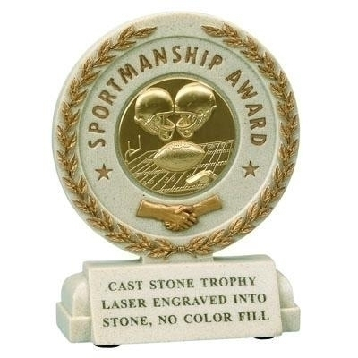 Tennis Trophies & Awards Trophies - X9254 - 5-1/2 Inch Sportsmanship Resin Trophy Without Plate X9254