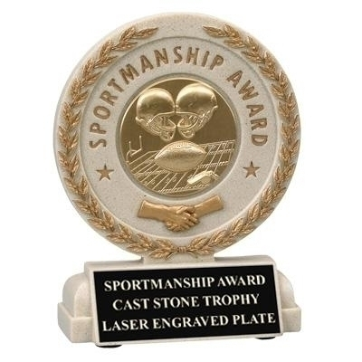 Tennis Trophies & Awards Trophies - Tr7055 - 5-1/2 Inch Sportsmanship Resin Trophy; Takes Insert TR7055