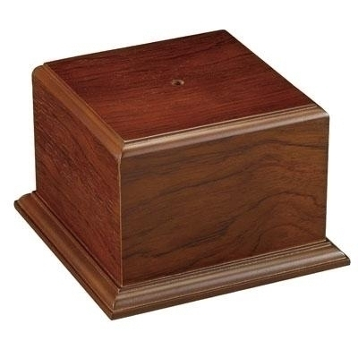5-1/4 X 4-1/2 Walnut Finish Cup Or Bowl Base - Xu3178 - Awards Trophy Eagles Without Plates XU3178
