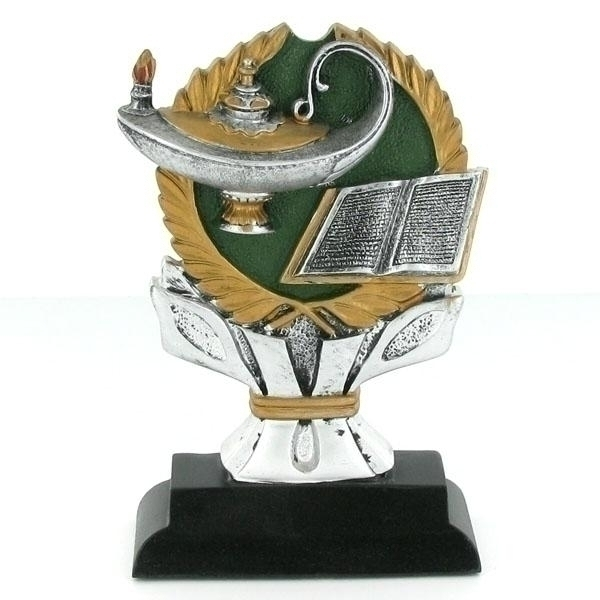 Tennis Trophies & Awards Trophies - F8107 - 6 Inch Resin Lamp Of Learning Trophy Without Plate F8107