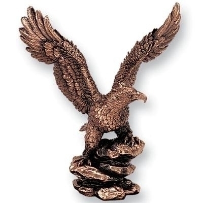 8-1/2 Cast Eagle Trophy Bronze - X8496 - Awards Eagles Without Plates X8496