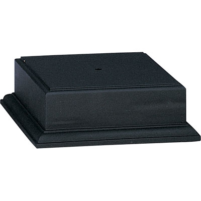 Black Finish Base For Cup Or Bowl - Xu3183 - Awards Trophy Eagles Without Plates XU3183