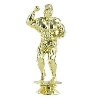 Bodybuilder Male Trophy Figure - F29244g - Sports Figures And Risers Plastic Sport F29244G