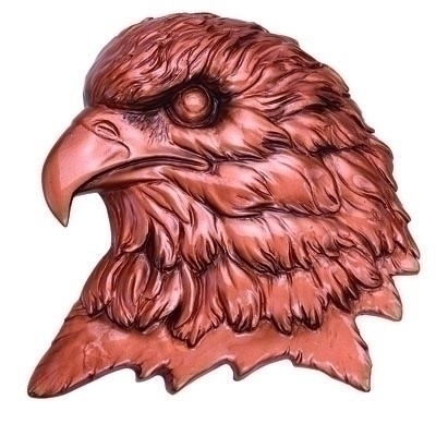 Bronze Eagle Head Plaque Mount; 4-1/2x4-1/2 - X8848b - Collegiate Sports Ncaa College Embryriddle Aeronautical University At Both The Daytona Beach Florida And Prescott Arizona Campuses Fla Eagles Plaques X8848B
