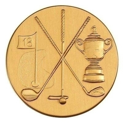 Clubs; Cup; Flag Golf General; - 507555g - Trophies And Awards Sports And Game Medallion Inserts 507555G