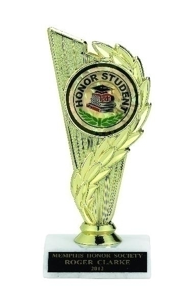 Column Trophy; 6-3/4 Inch; White Marble Base; 2 Inch Insert - Tr7266 - Tennis Trophies & Awards Trophies TR7266