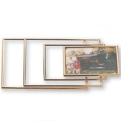 Gold Acrylic Frame Holds 8 X 10 - X8212 - Golf Tee Bag Holds Three Tees Ame Lulu Collection X8212