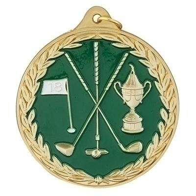Golf Clubs; Flag; Loving Cup - Multiple Colors Me108g - Trophies And Awards Sport ME108G