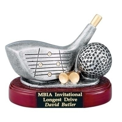 Golf Driver Club And Ball; 4 Inch Resin Trophy - Tr5859 - Water Sports Water Sports Dvd And Videos Adult Coaching Dvd TR5859
