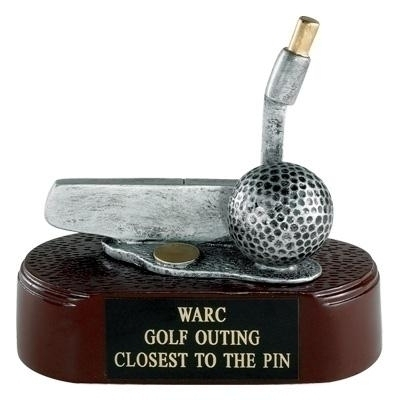 Golf Putter; 4 1/2 Inch Resin Trophy - Tr5860 - Tennis Trophies & Awards Trophies TR5860