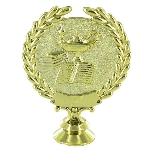 Lamp Of Learning Wreath Trophy Figure - X9563 - Tennis Trophies & Awards Trophies X9563