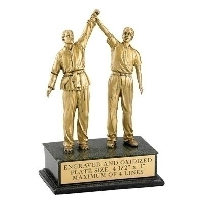 Martial Arts; Male; Referee; 8 1/2 Inch Figure Trophy - Tr5862 - Tennis Trophies & Awards Trophies TR5862