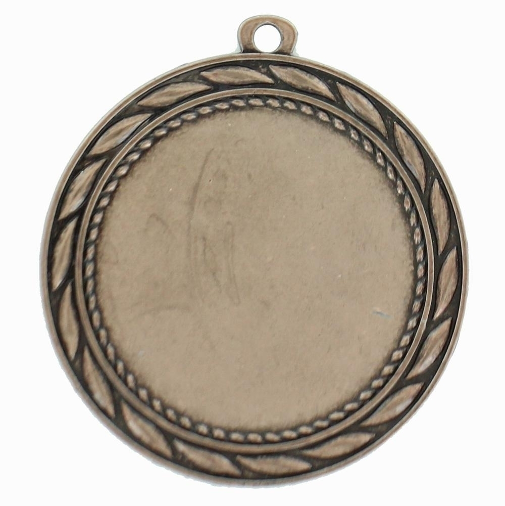 Medal Frame With Wreath; Holds 2 Inch Medallion Insert. Bronze 2-3/4 Diameter. - M185b - Trophies And Awards Blank Medals For Engraving And Imprinting M185B