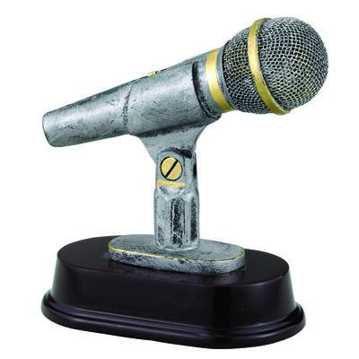 Awards Component Parts - F836 - Resin Microphone Trophy F836