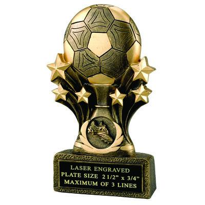 Resin Soccer Star Trophy - F825 - Awards Component Parts F825