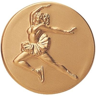Skating Female Figure - 506571g - Trophies And Awards Sports And Game Medallion Inserts 506571G