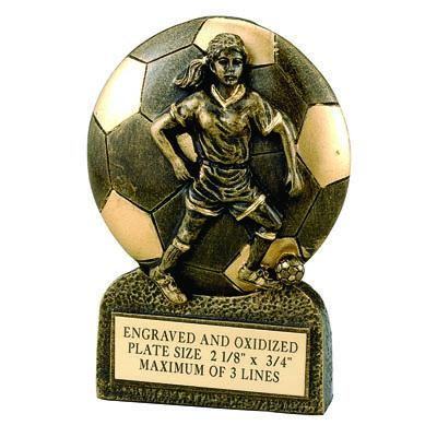 Soccer Female Resin Trophy - F821 - Tennis Trophies & Awards Trophies F821