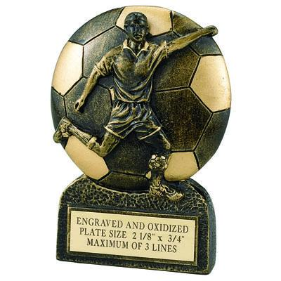 Soccer Male Resin Trophy - F820 - Tennis Trophies & Awards Trophies F820