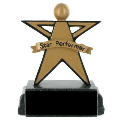 Star Performer Scholastic Trophy; 5-1/4 Inch - Ts1016bk - Tennis Trophies & Awards Trophies TS1016BK