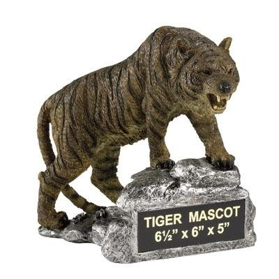 Tiger Growling Mascot Trophy - Mt2035 - Awards Trophies MT2035