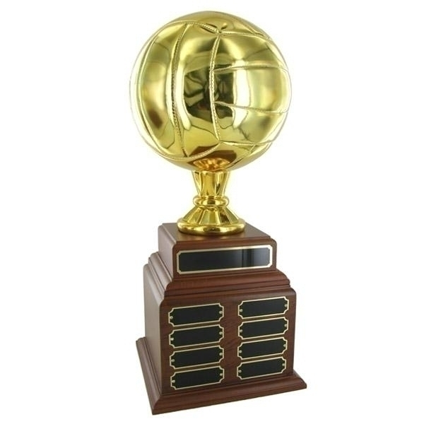 Volleyball Perpetual Trophy; Height 19 Inches; 8 Inch Gold Ball - Tr7374 - Awards Loving Cups TR7374