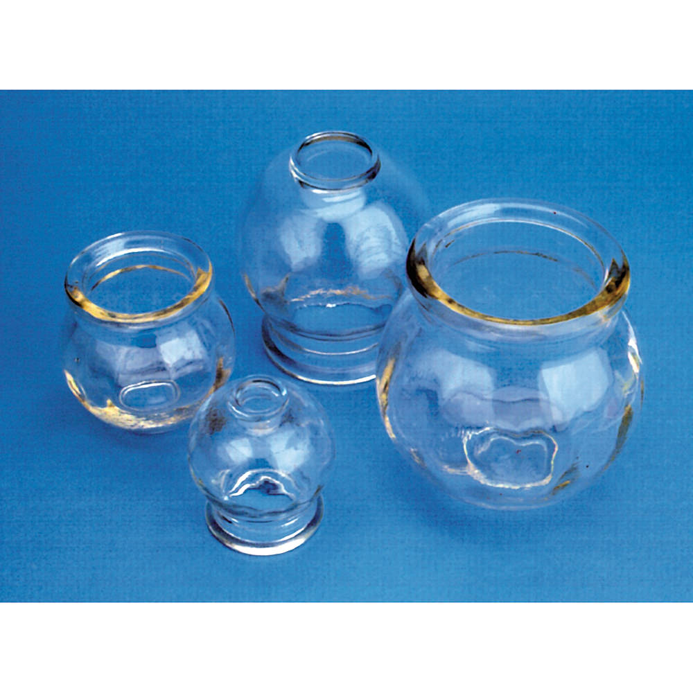 Fire Cup Glass Jars 3 Per Set - Lha105s3 - Health Care Acupuncture Cupping LHA105S3