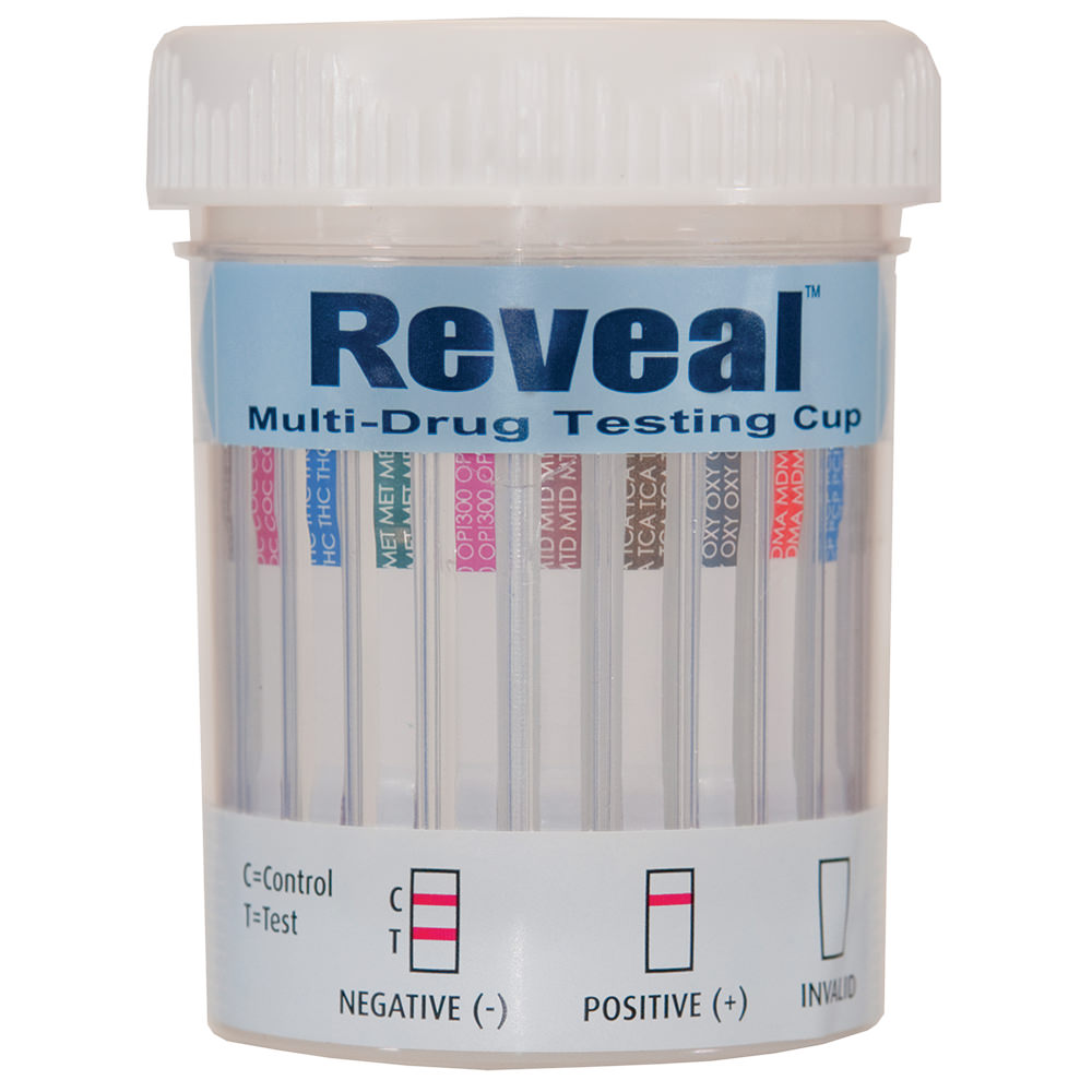 Reveal Urine Drug Screen Cup 12 Panel Clia Waved - Ascrcup3124ndi - Physical Therapy Specimen Testing Collection Kits ASCRCUP3124NDI