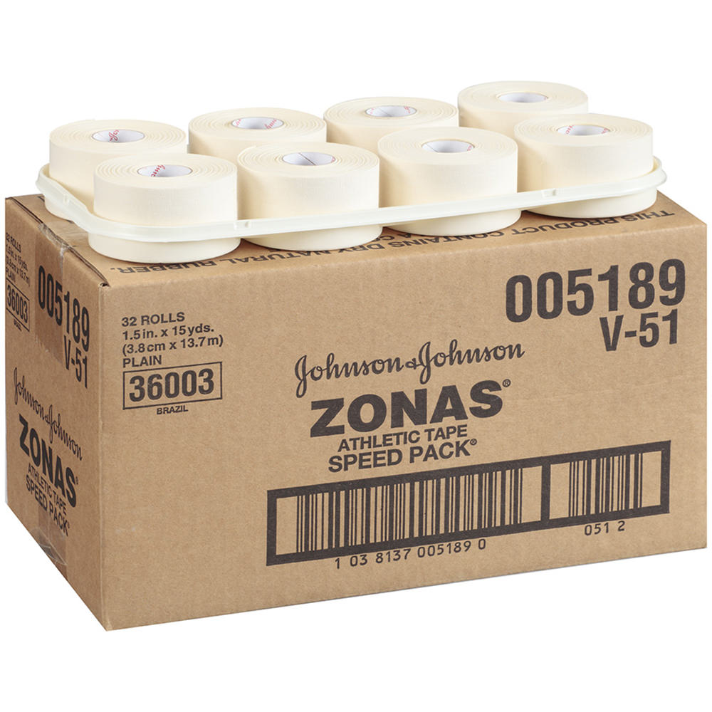 """Zonas Athletic Pourous Tape Roll Speed Pack 1.5"""" X 15yds 32/case - Jnj005190 - Health Care Sports Medicine Athletic Tape And Accessories JNJ005190"""