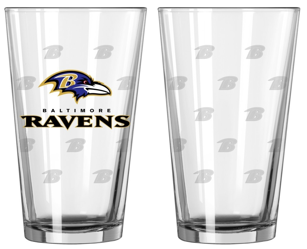 Football Nfl Football Baltimore Ravens Tumblers And Pint Glasses - 4245102197 - Baltimore Ravens Satin Etch Pint Glass Set 4245102197
