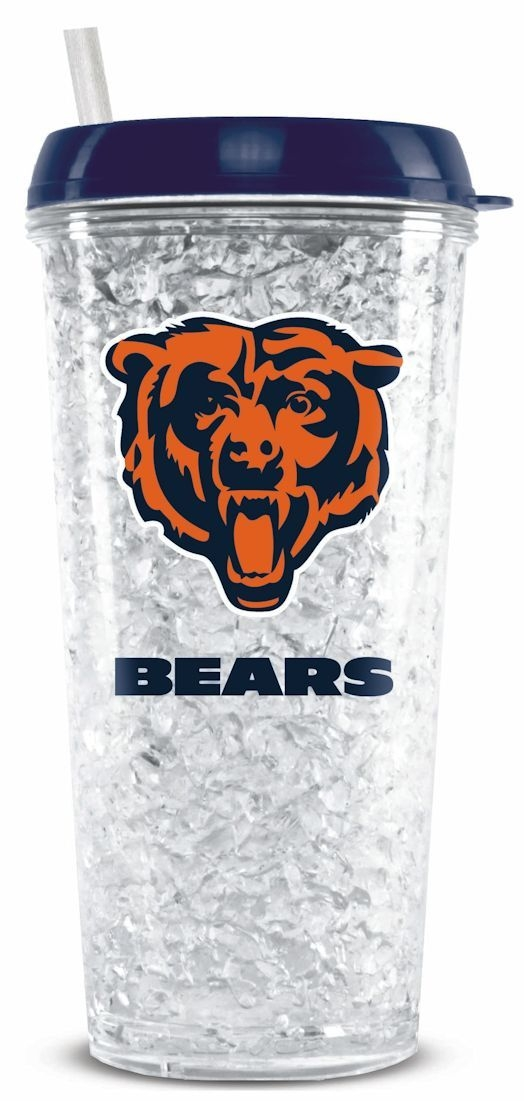 Football Nfl Football Chicago Bears Tumblers And Pint Glasses - 9413102262 - Chicago Bears Crystal Freezer Tumbler 9413102262