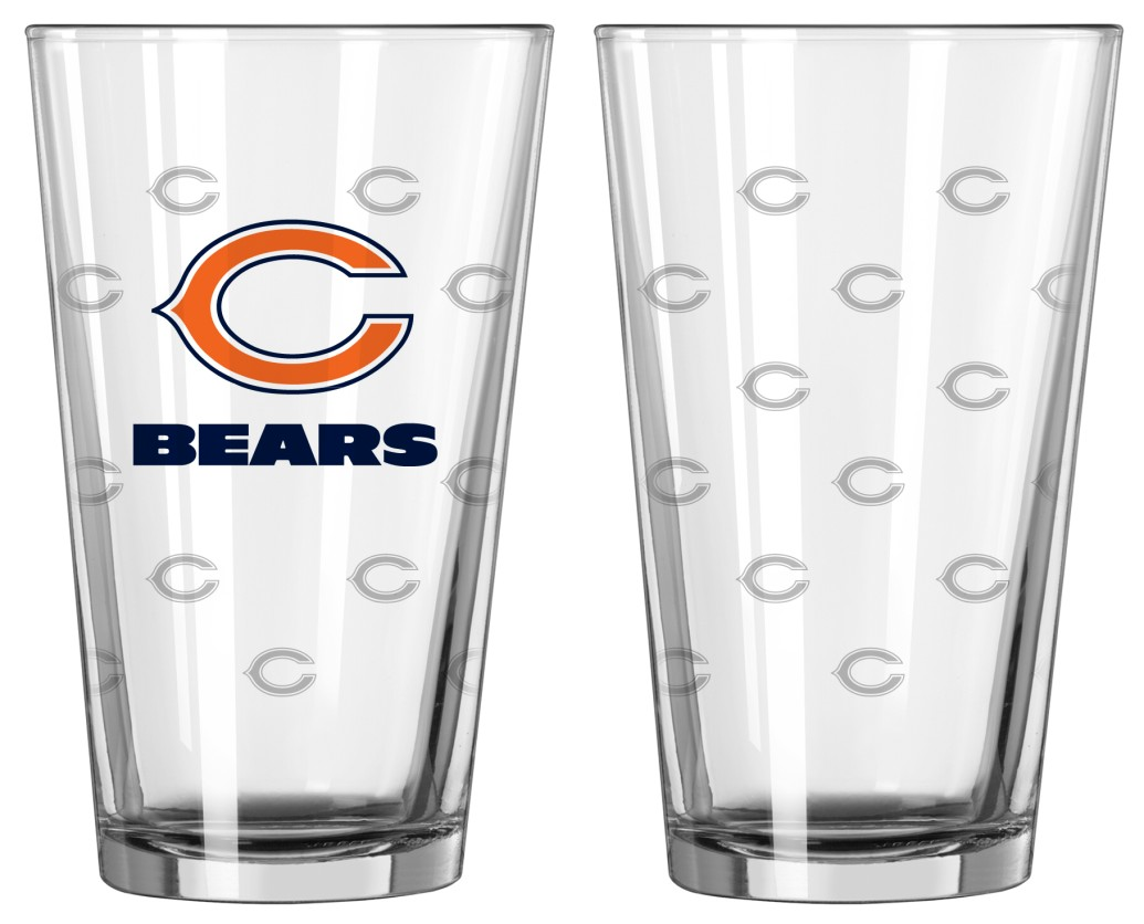 Football Nfl Football Chicago Bears Tumblers And Pint Glasses - 4245102200 - Chicago Bears Satin Etch Pint Glass Set 4245102200