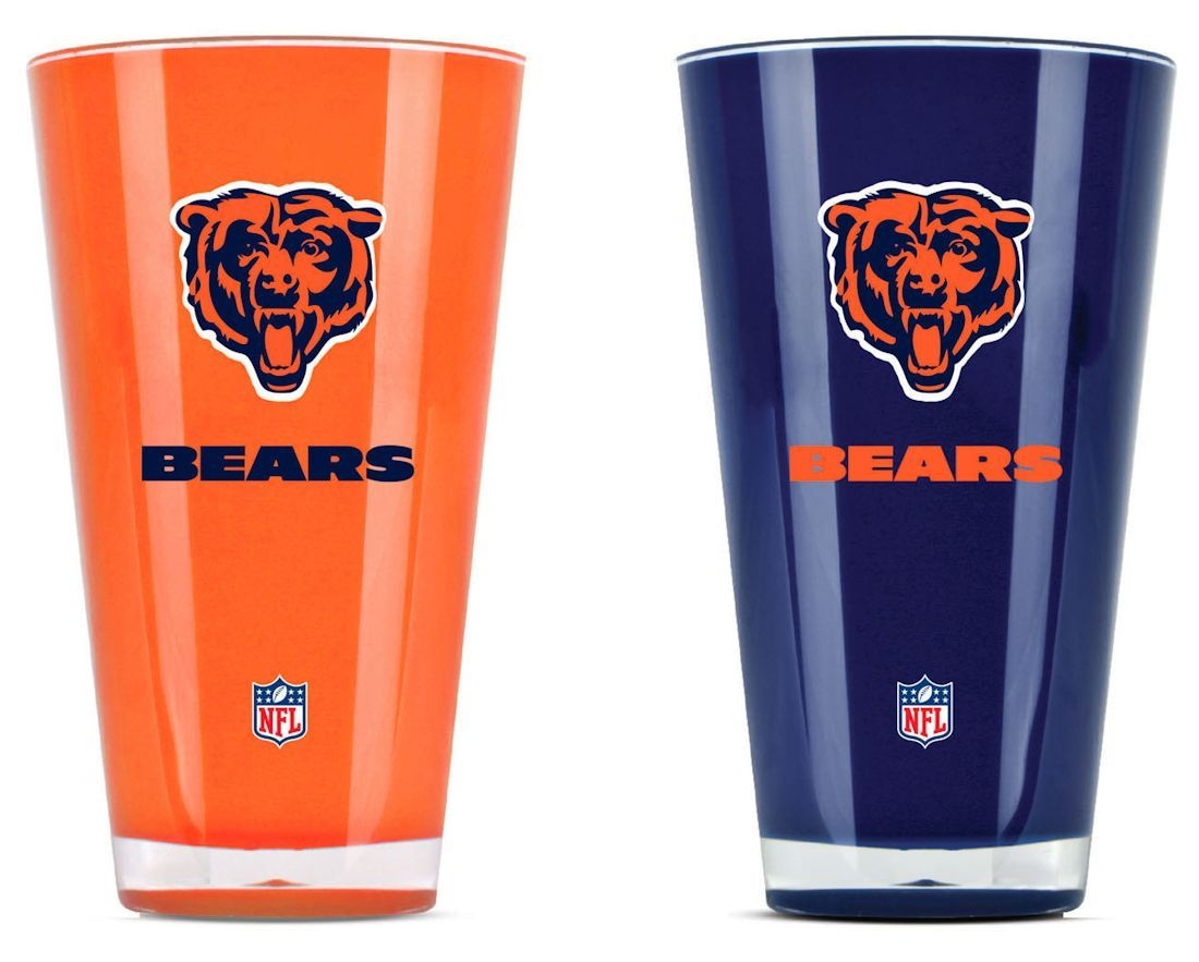 Football Nfl Football Chicago Bears Tumblers And Pint Glasses - 9413101629 - Chicago Bears Tumblers-set Of 2 (20 Oz) 9413101629