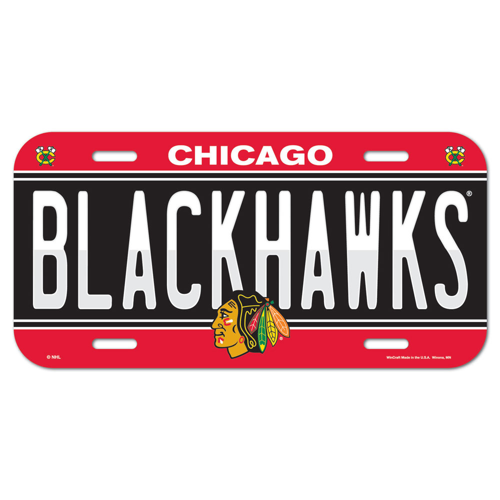 Hockey Nhl Hockey Chicago Blackhawks License Plates Frames - 3208585236 - Chicago Blackhawks License Plate 3208585236