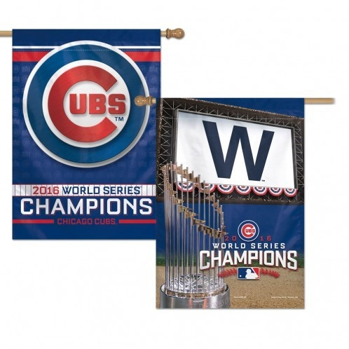 Soccer Short Sided - 3208599321 - Chicago Cubs Banner 28x40 2 Sided 2016 World Series Champs 3208599321