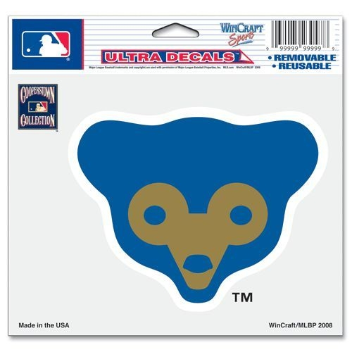 Baseball Mlb Baseball Chicago Cubs Decals - 3208556531 - Chicago Cubs Decal 5x6 Ultra Color Bear Logo 3208556531
