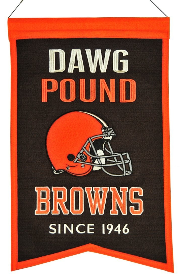 Cleveland Browns Banner Wool Franchise - 7408830117 - Baseball & Softball Mlb Baseball & Softball Cleveland Indians Banners 7408830117