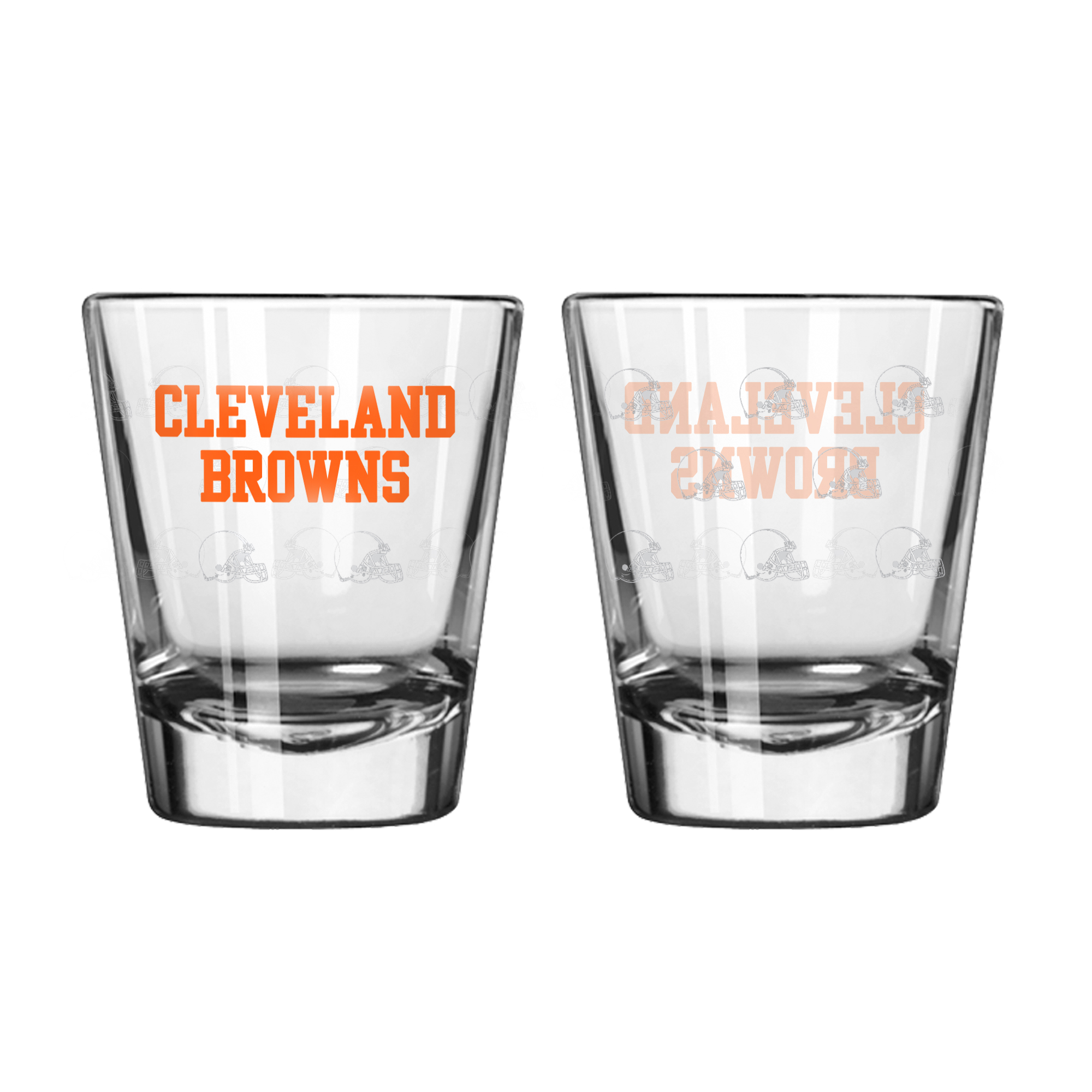 Baseball & Softball Mlb Baseball & Softball Cleveland Indians Shot Glasses - 4245107059 - Cleveland Browns Shot Glass-2 Pack Satin Etch 4245107059