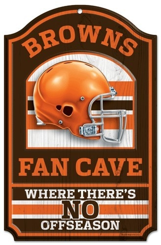 "Baseball & Softball Mlb Baseball & Softball Cleveland Indians Pet Fan Gear - 3208505421 - Cleveland Browns Wood Sign-11""x17"" Fan Cave Design 3208505421"