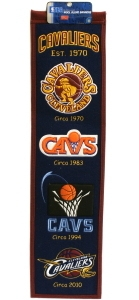 Kansas City Monarchs 8x32 Heritage Banner, Brown, WOOL BLEND