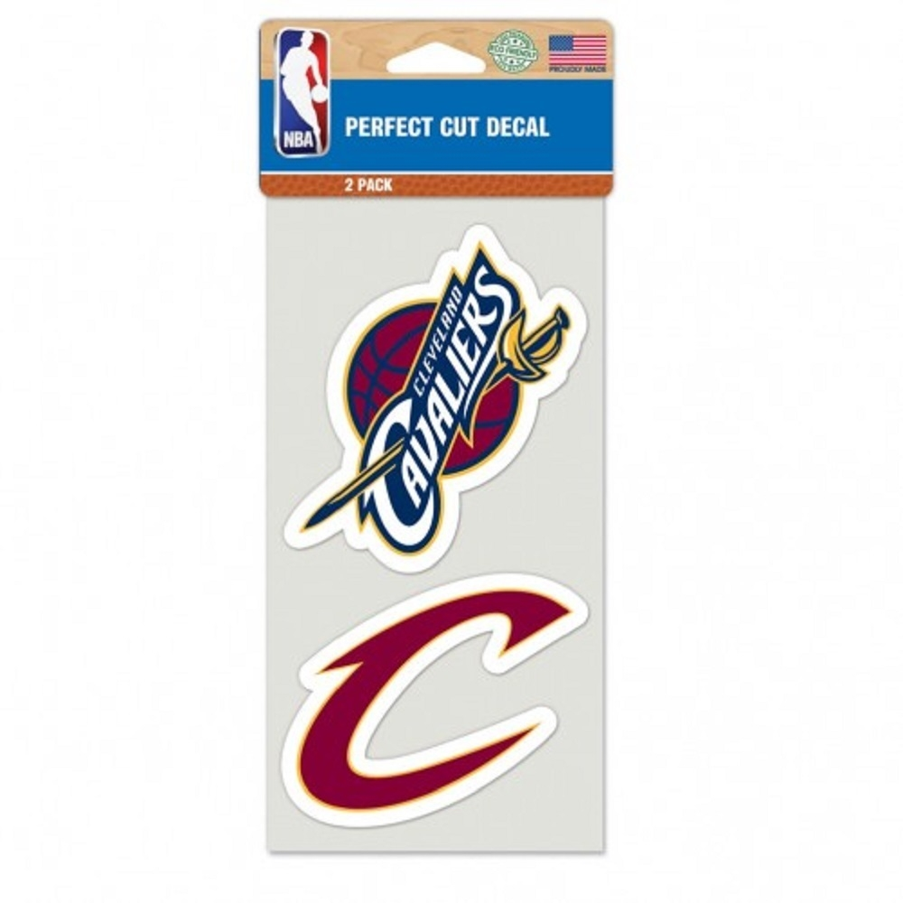 Basketball Nba Basketball Cleveland Cavaliers Decals - 3208548701 - Cleveland Cavaliers Set Of 2 Die Cut Decals 3208548701